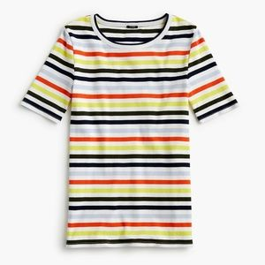 J.Crew Slim perfect T-shirt in stripe-G1445-cotton